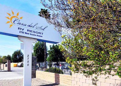 Casa Del Sol RV Park Sign